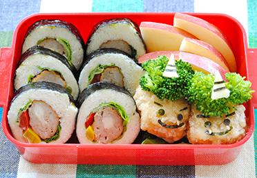恵方巻きで節分のお弁当 作り方 デコ弁 キャラ弁 レシピ 日本ハム