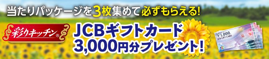 ニッポンハム JCBギフトカード3000円分プレゼントキャンペーン
